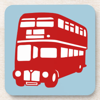 English two-floor bus drink coaster