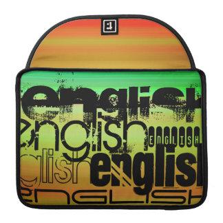English; Vibrant Green, Orange, & Yellow Sleeve For MacBook Pro