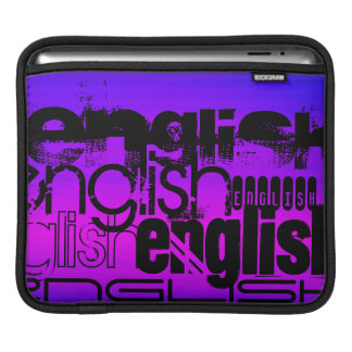 English; Vibrant Violet Blue and Magenta Sleeve For iPads