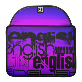 English; Vibrant Violet Blue and Magenta Sleeve For MacBook Pro
