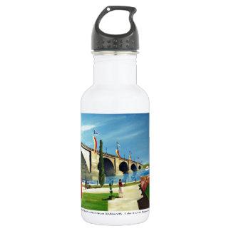 English Village by Paul Bryan Wadsworth Water Bottle
