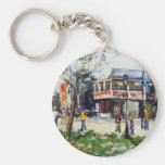 English Village by Renee Theobald Key Chains