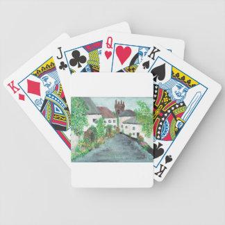 English Village Bicycle Playing Cards
