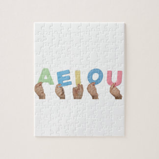 English vowels jigsaw puzzle