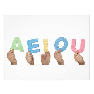 English vowels letterhead