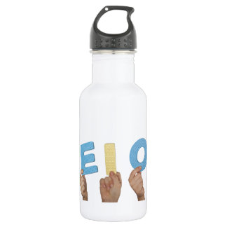 English vowels water bottle