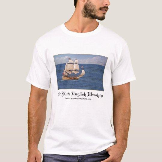 English Warship Out At Sea T-Shirt