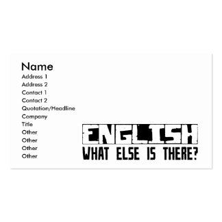 English What Else Is There? Double-Sided Standard Business Cards (Pack Of 100)