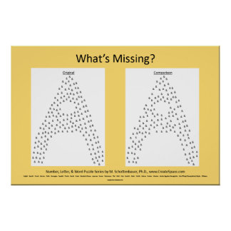"""English: """"What's Missing?"""" Poster Puzzle: &"""