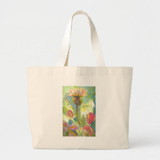 English Wild Flowers Floral Painting Bag