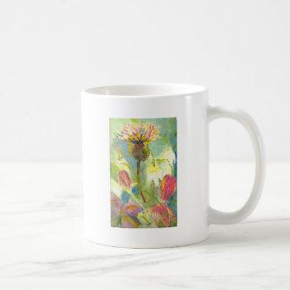 English Wild Flowers Floral Painting Coffee Mug