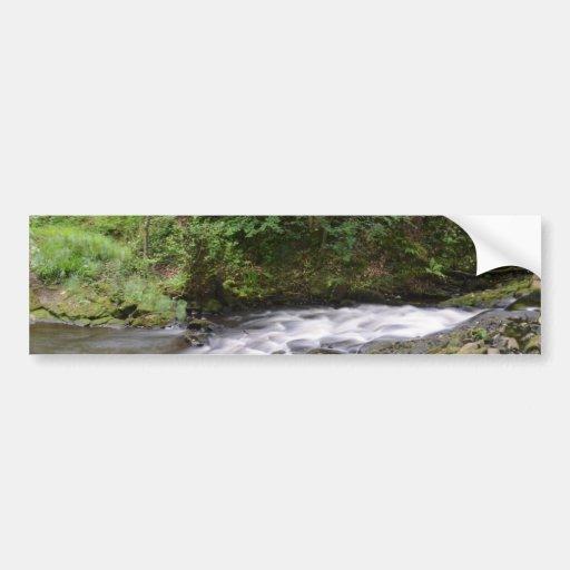English Woodland Stream Bumper Sticker