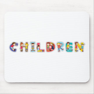 english word children mouse pad