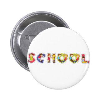 english word school 2 inch round button