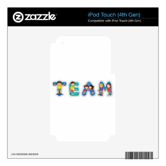 english word team skin for iPod touch 4G