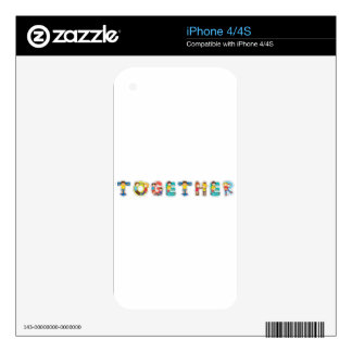english word together iPhone 4 decal