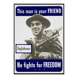 Englishman -- This Man Is Your Friend -- Border Poster