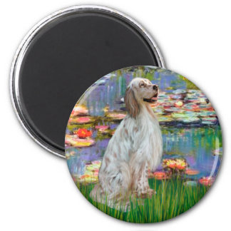 EnglishSetter 1 - Lilies 2 Magnet