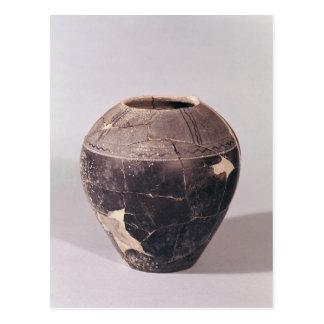 Engobe vase decorated with undulating lines postcard