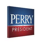 Engranaje 2012 de la elección de Rick Perry Impresion De Lienzo