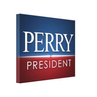 Engranaje 2016 de la elección de Rick Perry Impresion De Lienzo