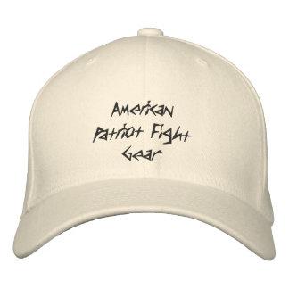 Engranaje americano de la lucha del patriota gorras de beisbol bordadas