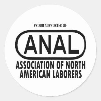 ¡Engranaje ANAL del logotipo! Pegatina Redonda