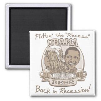Engranaje anti de la recesión de la cerveza de Oba Imán Cuadrado