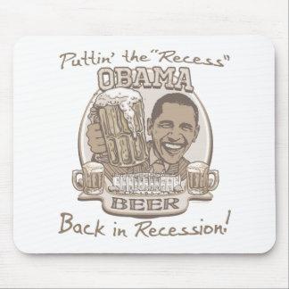 Engranaje anti de la recesión de la cerveza de Oba Tapete De Ratón