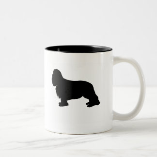 Engranaje arrogante del perro de aguas de rey taza de dos tonos