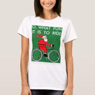 engranaje biking para el navidad playera