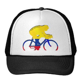 Engranaje colombiano de la bicicleta de la bandera gorros bordados