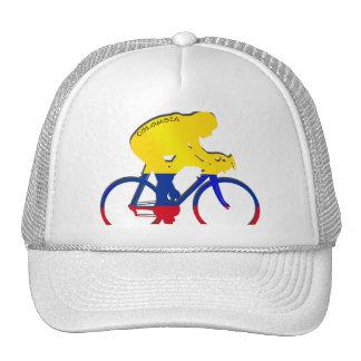Engranaje colombiano de la bicicleta de la bandera gorras de camionero