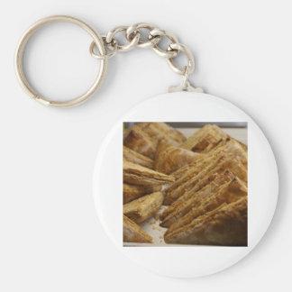 Engranaje curruscante de la comida del placer de l llavero redondo tipo pin