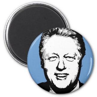 Engranaje de Bill Clinton Imán Redondo 5 Cm