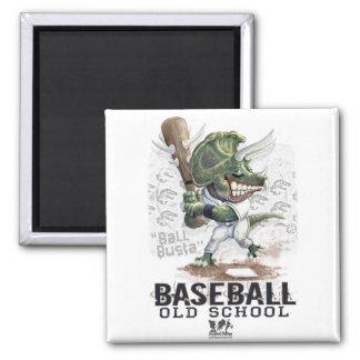 Engranaje de Busta de la bola del béisbol del dino Imán Cuadrado