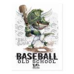 Engranaje de Busta de la bola del béisbol del dino Tarjeta Postal
