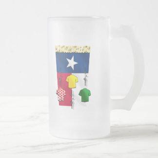 Engranaje de ciclo de la bandera de jarra de cerveza esmerilada