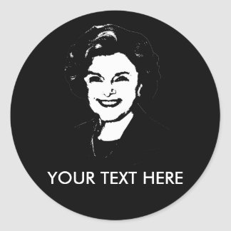 Engranaje de Diane Feinstein Etiqueta Redonda