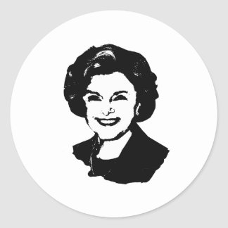 Engranaje de Diane Feinstein Pegatinas Redondas