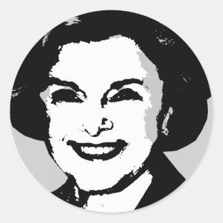Engranaje de Diane Feinstein Pegatina Redonda