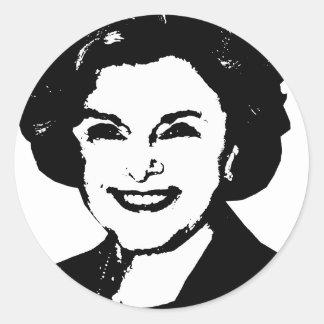 Engranaje de Diane Feinstein Etiquetas Redondas