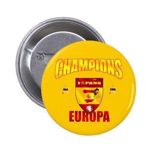 Engranaje de España del Europa de los campeones pa Pin Redondo 5 Cm