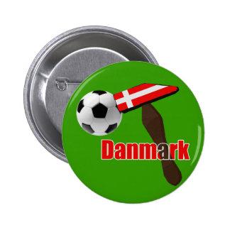 Engranaje de Fodbold de la dinamita de Danmark del Pin Redondo De 2 Pulgadas