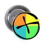 Engranaje de Geocaching Pin Redondo De 2 Pulgadas