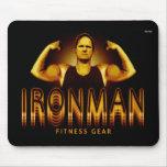 Engranaje de la aptitud de Ironman Alfombrillas De Raton