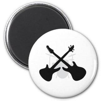engranaje de la banda - bajo eguitar de los tambor imán redondo 5 cm