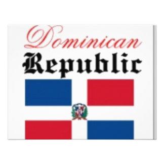 Engranaje de la bandera de la República Dominicana Invitación Personalizada