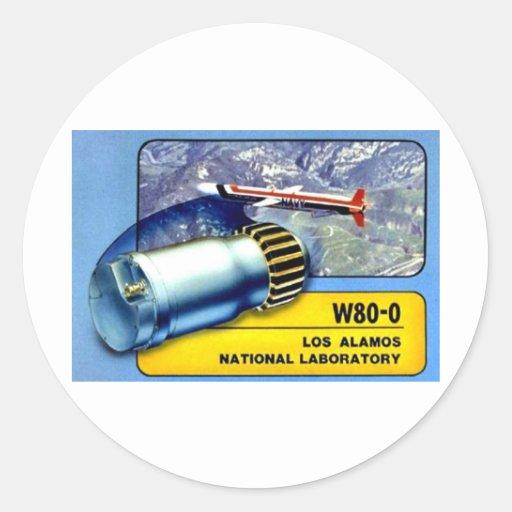 Engranaje de la cabeza W80 -- ¡Una de las mejores Pegatina Redonda