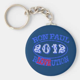 Engranaje de la campaña de la REVOLUCIÓN 2012 de Llavero Redondo Tipo Pin
